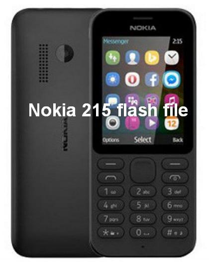 Nokia 215 flash file